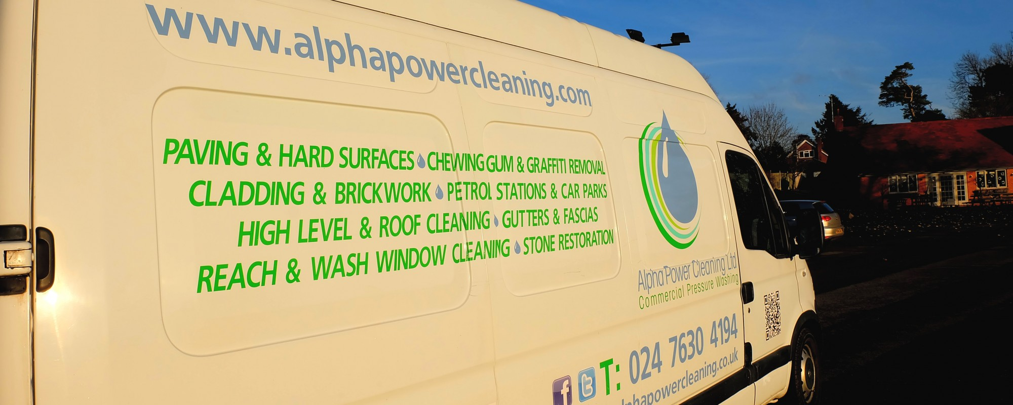 Alpha Power Cleaning, Window Cleaning, Jet Washing, Commercial Cleaning, Pressure Washing